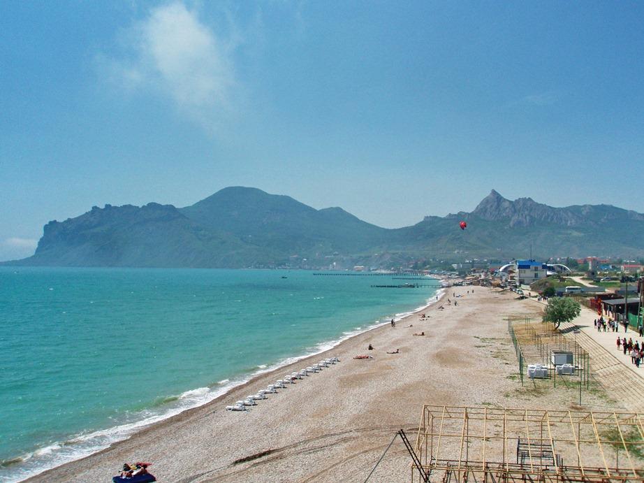 Крым, Коктебель, пляжи
