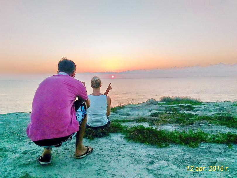 Встречаем восход солнца в Крыму.