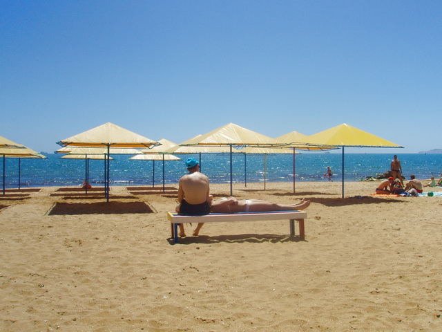 Лучший пляж в Крыму   Золотой пляж Феодосии. | Планета Коктебель