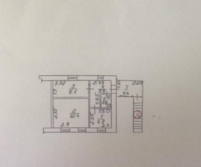 Купить 1 комнатную квартиру  в центре.